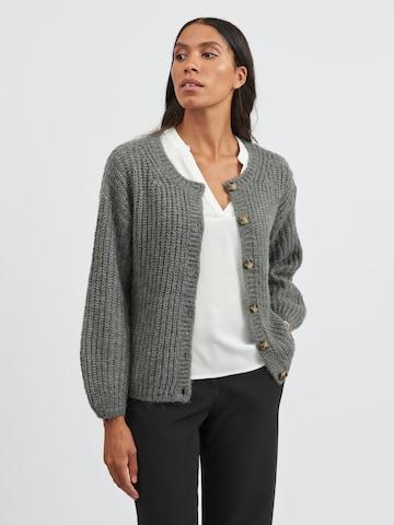 VILA Knit Cardigan 'Suba' in Grey