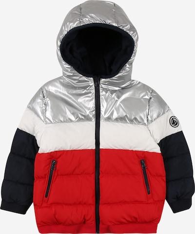PETIT BATEAU Jacke in marine / rot / silber / weiß, Produktansicht