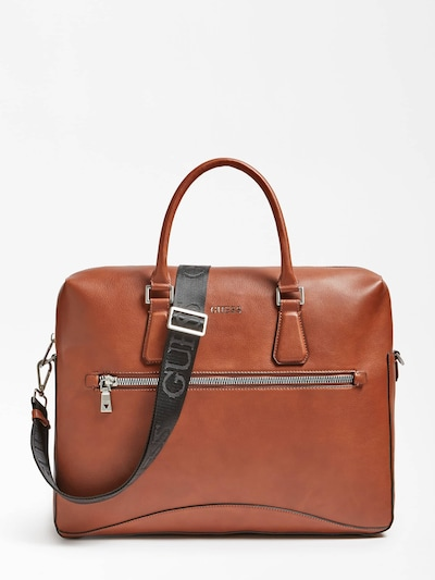 GUESS Cartera maletín 'Scala' en marrón, Vista del producto