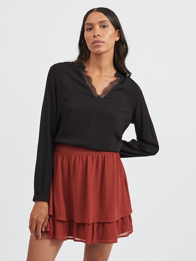 VILA Bluse 'Chanet' in schwarz, Modelansicht