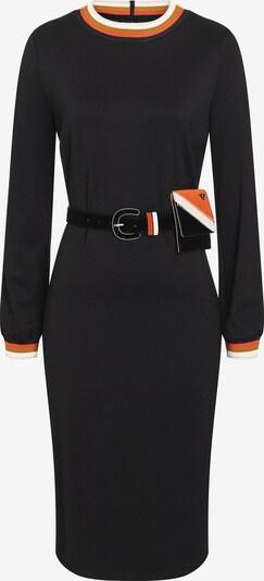 Ana Alcazar Jurk ' Bazzy ' in de kleur Sinaasappel / Zwart / Wit, Productweergave