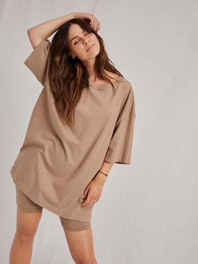 A LOT LESS T-Shirt 'Dakota' in beige: Frontalansicht