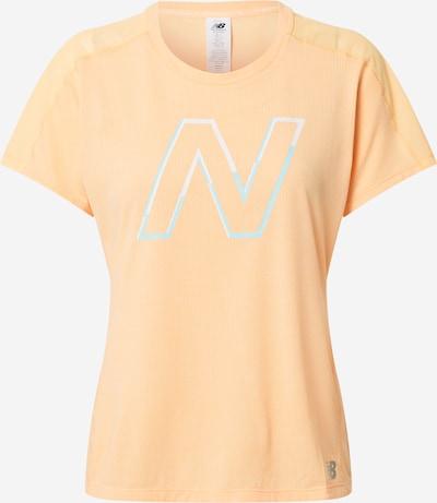 new balance T-shirt fonctionnel en bleu clair / orange clair / blanc, Vue avec produit