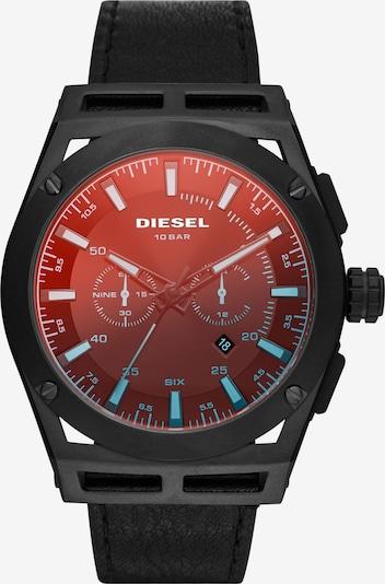 DIESEL Armbanduhr in rot / schwarz, Produktansicht