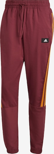 ADIDAS PERFORMANCE Sporthose in orange / burgunder / schwarz / weiß, Produktansicht