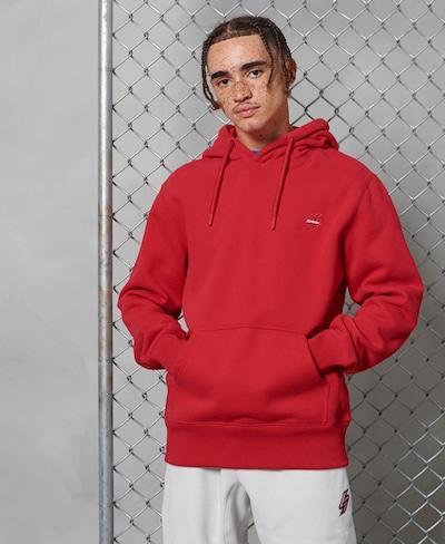 Superdry Sweatshirt in de kleur Knalrood: Vooraanzicht