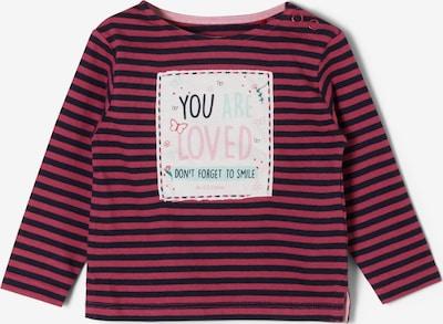 s.Oliver Shirt in beere / pink / schwarz / weiß, Produktansicht