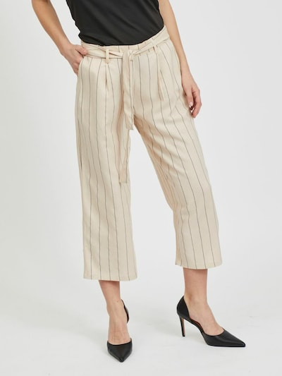 VILA Pantalón en beige / gris, Vista del modelo