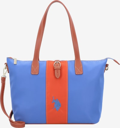 U.S. Polo Assn. Schultertasche in blau / braun / orange, Produktansicht