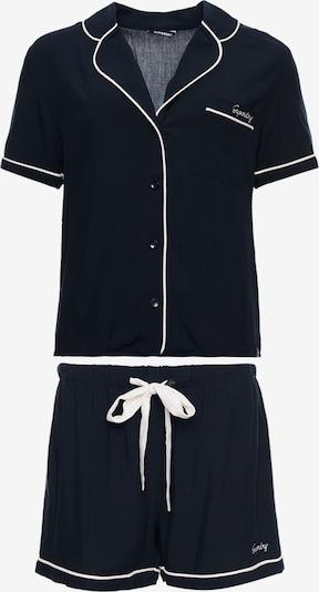 Superdry Pyjama 'Imogen' in de kleur Marine / Wit, Productweergave