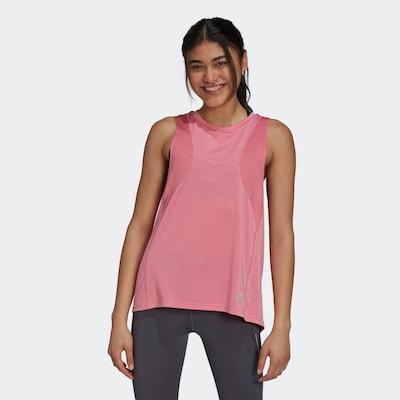 ADIDAS PERFORMANCE Sporttop 'Own the Run' in grau / rosa: Frontalansicht