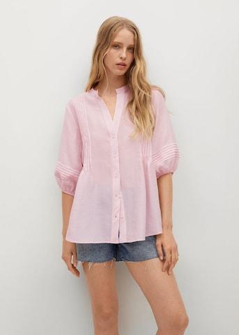 MANGO Блуза 'Stephy' в розово