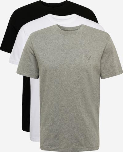 Marškinėliai iš American Eagle , spalva - pilka / juoda / balta: Vaizdas iš priekio