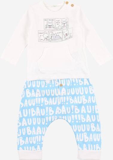 UNITED COLORS OF BENETTON Set en bleu clair / blanc, Vue avec produit