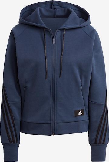 ADIDAS PERFORMANCE Sportsweatjacke in blau / schwarz, Produktansicht