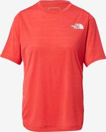 THE NORTH FACE Λειτουργικό μπλουζάκι σε κόκκινο