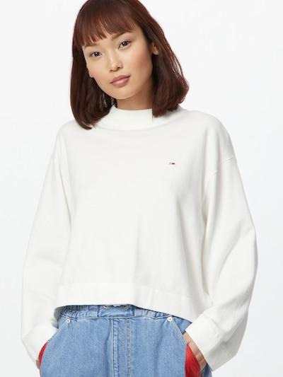 Tommy Jeans Pullover in navy / rot / weiß, Modelansicht