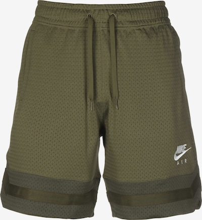 NIKE Workout Pants 'Air Mesh' in Olive / Dark green / White, Item view