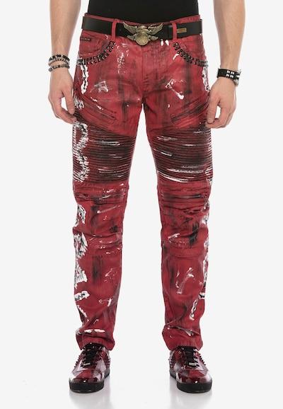 CIPO & BAXX Röhrenjeans 'CB STRANGE' in rot, Modelansicht