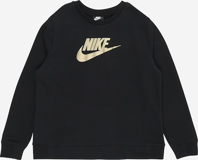 Bluză de molton Nike Sportswear pe negru / alb, Vizualizare produs