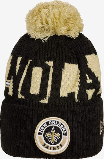 NEW ERA Muts 'NFL New Orleans Saints Cold Weather Sport Knit' in de kleur Beige / Zwart / Wit, Productweergave