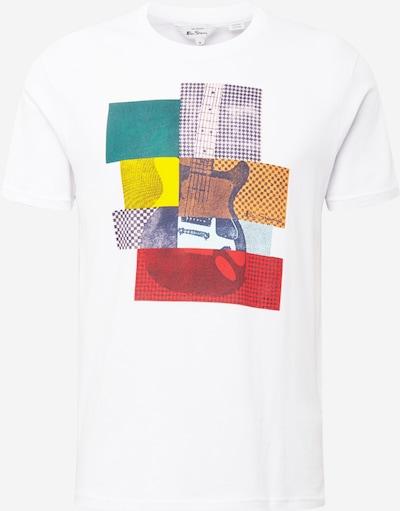 Tricou 'GUITAR' Ben Sherman pe galben / galben auriu / verde petrol / roșu rodie / alb, Vizualizare produs