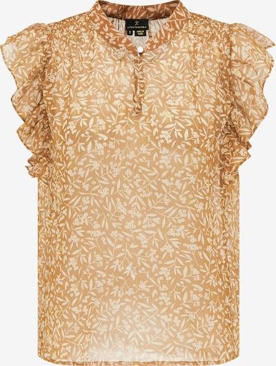 DreiMaster Klassik Bluse in camel / gold / weiß, Produktansicht