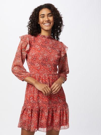 Trendyol Kleid in hellrot / dunkelrot / weiß, Modelansicht