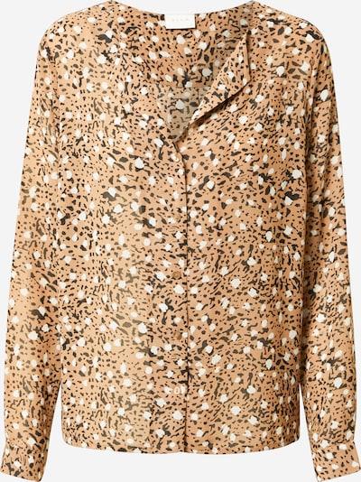 VILA Bluse 'ADELINE' in de kleur Bruin / Zwart / Wit, Productweergave