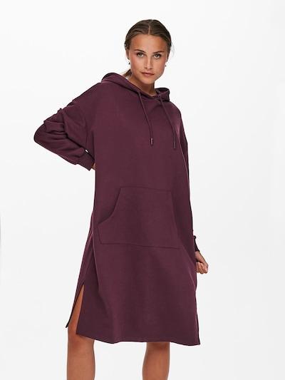ONLY Robe oversize 'Chelsea' en violet foncé, Vue avec modèle