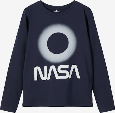 NAME IT Shirt 'Nasa' in de kleur Nachtblauw / Wit, Productweergave