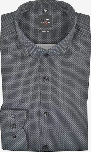 OLYMP Hemd in graphit / schwarz / weiß, Produktansicht
