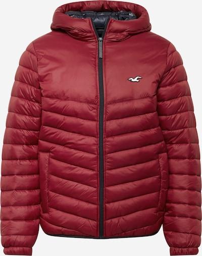 HOLLISTER Jacke in burgunder / schwarz / weiß, Produktansicht