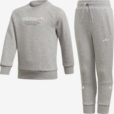 ADIDAS ORIGINALS Jogginganzug in blau / graumeliert / rot / schwarz / weiß, Produktansicht