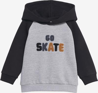 MANGO KIDS Sweatshirt 'GO SKATE' in honig / basaltgrau / dunkelgrau / graumeliert, Produktansicht