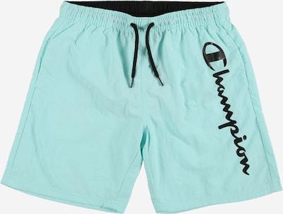 Șorturi de baie Champion Authentic Athletic Apparel pe albastru aqua / negru, Vizualizare produs