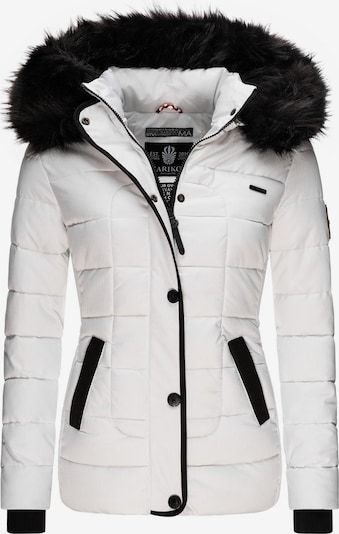 MARIKOO Steppjacke 'Unique' in schwarz / weiß, Produktansicht