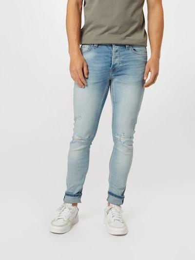 Only & Sons Jeans 'ONSLOOM LIFE SLIM L BLUE DESTROY DCC8617' in blau, Modelansicht