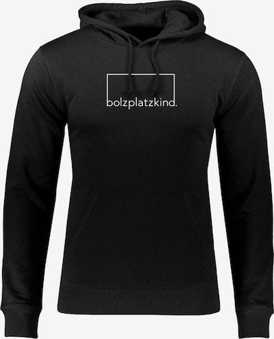 Bolzplatzkind Sweatshirt in schwarz / weiß, Produktansicht