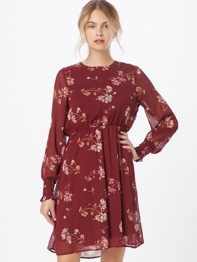 VERO MODA Kleid 'Milla' in apricot / rosa / blutrot, Modelansicht