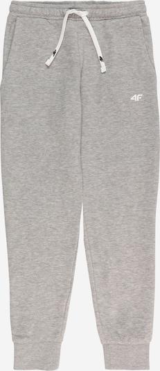 4F Športové nohavice - svetlosivá / biela, Produkt