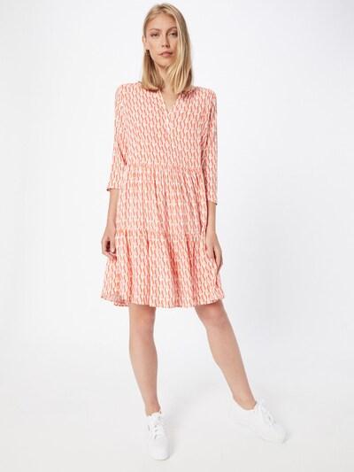 COMMA Kleid in creme / orange, Modelansicht
