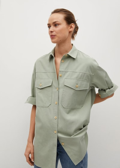 MANGO Bluse in grün, Modelansicht