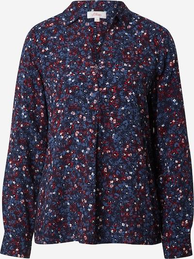 Bluză s.Oliver pe bleumarin / albastru fumuriu / roz / roșu / alb, Vizualizare produs