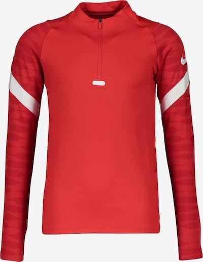NIKE Sportsweatshirt in karminrot / melone / weiß, Produktansicht