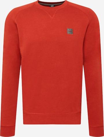 BOSS Casual Sweatshirt 'Westart' in Rot