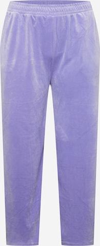 Pantaloni de la Urban Classics Curvy pe mov