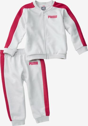 PUMA Jogginganzug in pink / weiß, Produktansicht