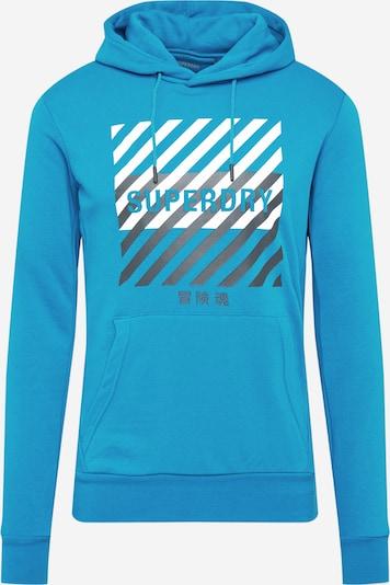 Superdry Sweat de sport en bleu / gris / blanc, Vue avec produit
