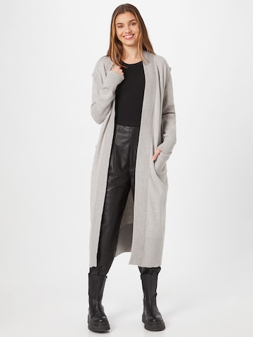 River Island Knitted Coat in Grey